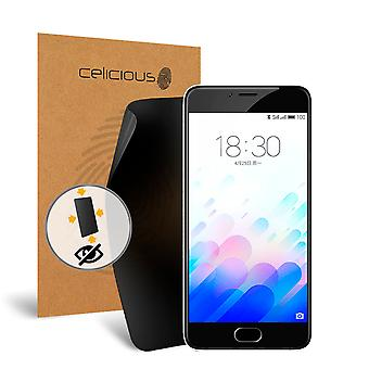 Celicious Privacy Plus 4-Way Anti-Spy Filter Screen Protector Film Compatible with Meizu M3