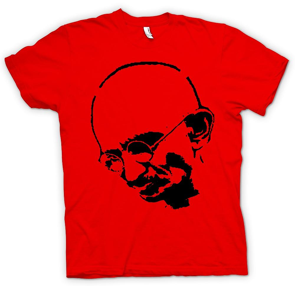 Mens t-shirt - Ghandi - indiano - Hippy - pace