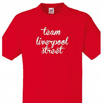 Team Liverpool street Red t-shirt