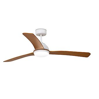Energy-saving LED Ceiling Fan Grid White with Remote