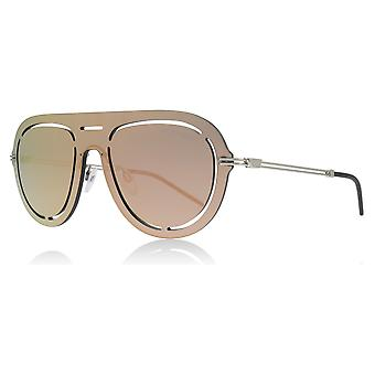 Emporio Armani EA2057 30154Z Grey Mirror Rose Gold EA2057 Pilot Sunglasses Lens Category 3 Lens Mirrored Size 41mm