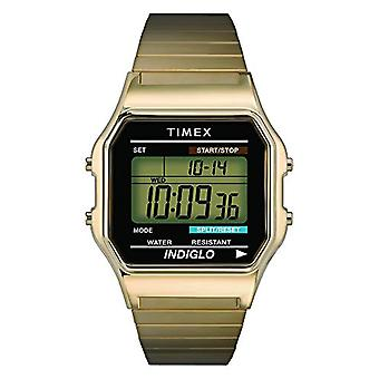 Timex T78677U8 wrist digital watch, stainless steel, gold