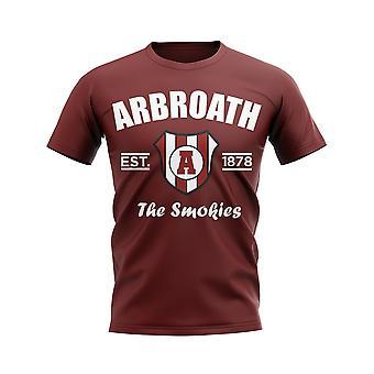 Arbroath Established Football T-Shirt (Maroon)