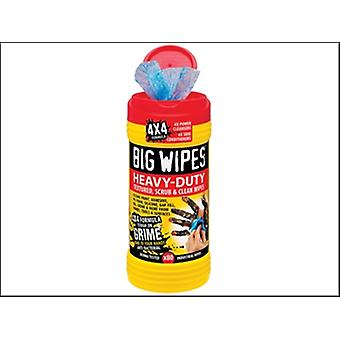 Big Wipes Red Top 4x4 Heavy-Duty Hand Cleaners Tub of 80