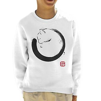 Purrfect Circle Cat Kid's Sweatshirt