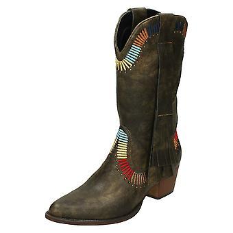 Dames tot aarde cowboylaarzen stijl