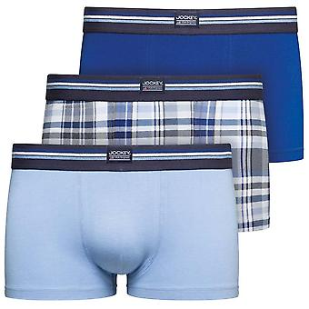 Jockey Cotton Stretch 3-Pack Short Trunks, Just Blue, X-Large