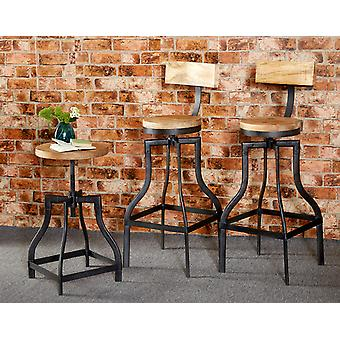 Maison Industrial Metal & Wood Bar Stool