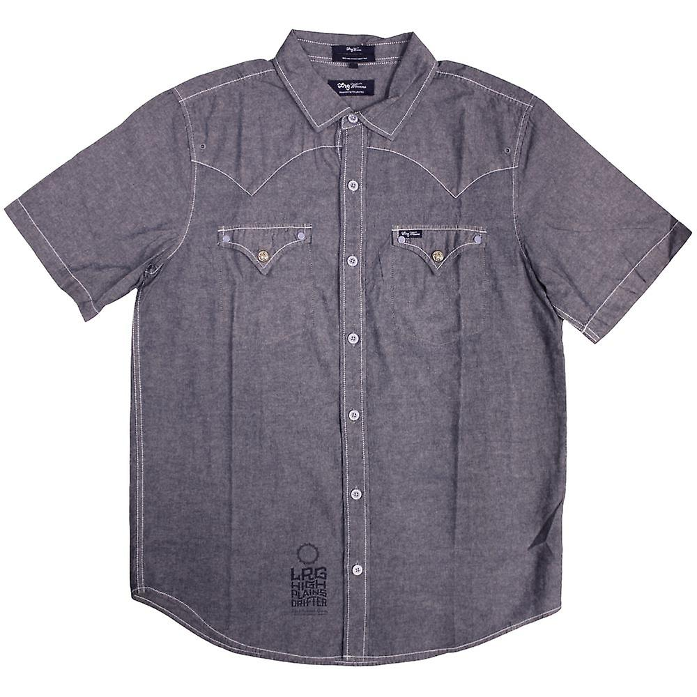 LRG High Moon SS geweven Shirt leisteen