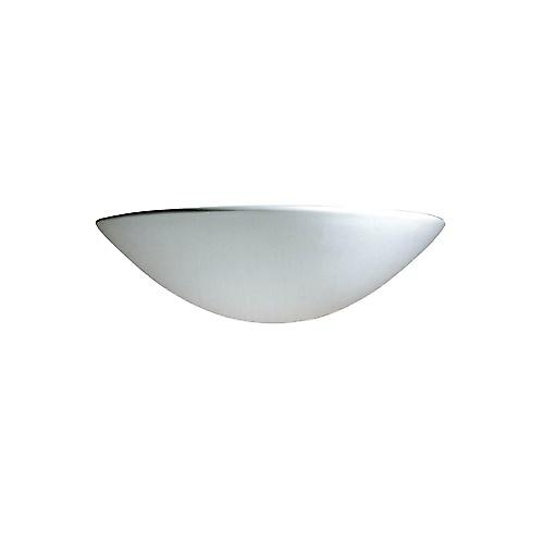 Dar RAD0748 Radius Wall Washer Unglazed With A White Finish