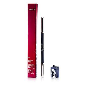Long Lasting Eye Pencil with Brush - # 01 Carbon Black (With Sharpener) - 1.05g/0.037oz