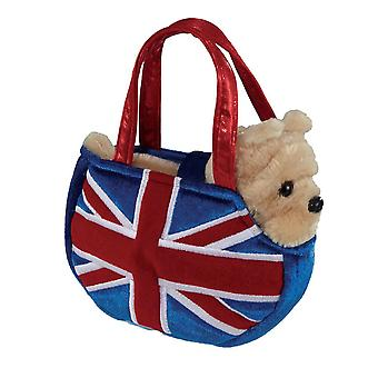 Fancy Pal Union Jack Bulldog in Carry Bag