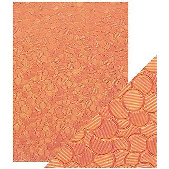 Craft Perfect von Tonic Studios A4 Hand Crafted Paper Pink Sunset | Pack von 5
