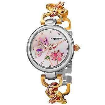 Akribos XXIV Women's Swarovski Crystal Bracelet Watch AK934TRI