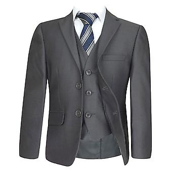 Boys Formal Charcoal Grey Suit Set