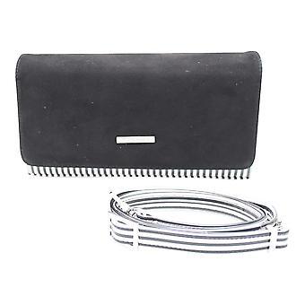 Peter Kaiser Black Box Clutch Bag With Shoulder Strap