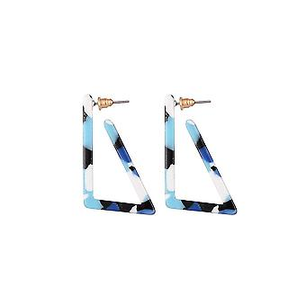 Jewelcity Sunkissed Womens/Ladies Edgy Triangular Earrings