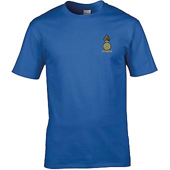 Royal Highland Fusiliers veteran-licenseret British Army broderet Premium T-shirt