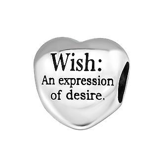 Hjertet ønske - 925 Sterling Silver ren perler - W12936X