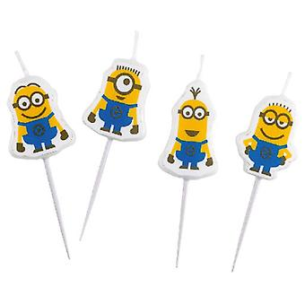 Liragram 4 Mini Figures Candles Minions (Babies and Children , Costumes)