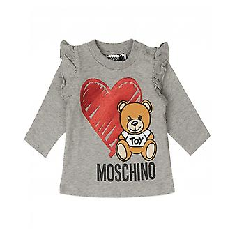 Moschino Moschino Kids Frilled Toy Logo Long Sleeved T-shirt