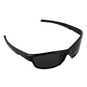 Sonnenbrille UV 400 Sport Rechteck polarisierendes Glas schwarz S371_3 FREE BrillenkokerS371_3