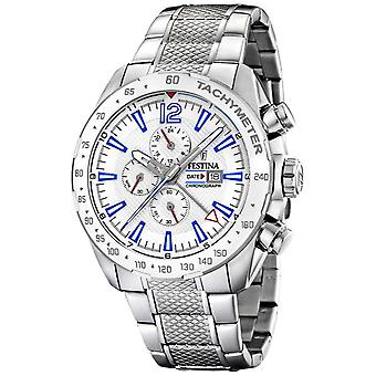 Festina | Mens Chronograph & Dual Time | Silver Dial| Steel Bracelet F20439/1 Watch