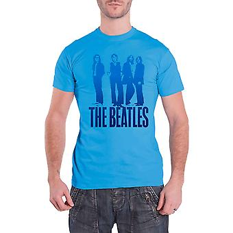 The Beatles T Shirt Blue Groove Iconic Image band logo Official Mens