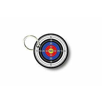 Porte Cle Cles Clef Brode Patch Ecusson Airsoft Cible Arc Target Biker