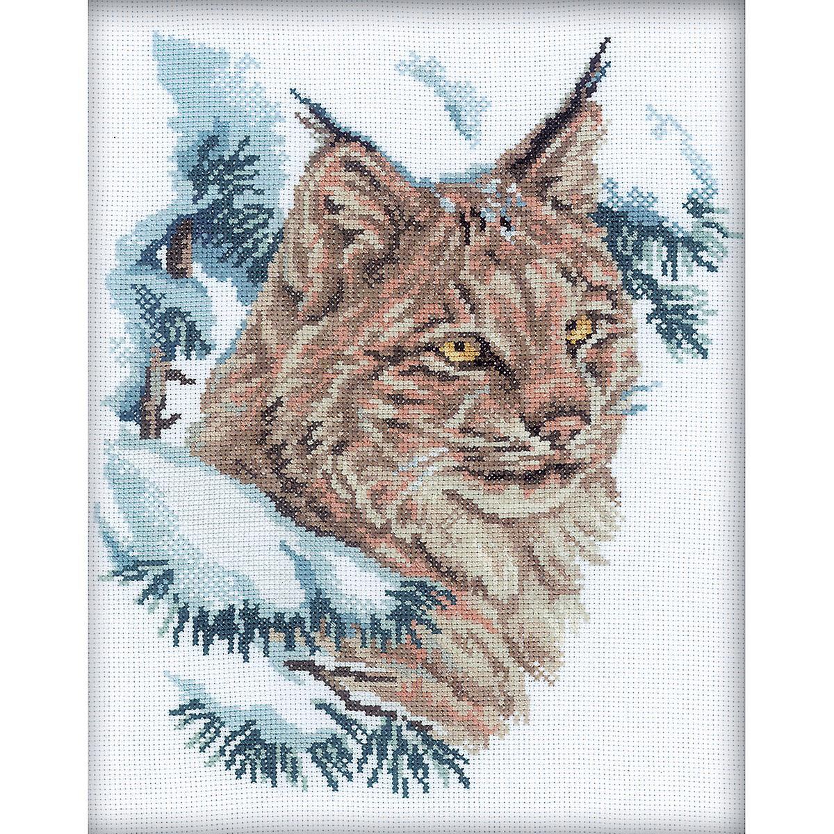 Lynx Counted Cross Stitch Kit-9