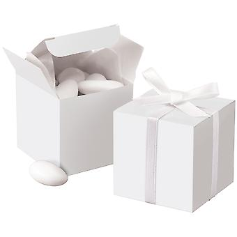 Square Box 100 Pkg White 1006 Box 0631