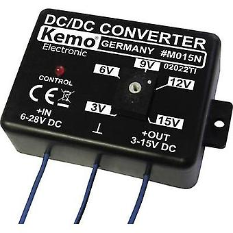 Voltage transformer Component Kemo ATT.FX.INPUT_VOLTAGE: 28 - 6 Vdc ATT.FX.OUTPUT_VOLTAGE: 15 - 3 Vdc