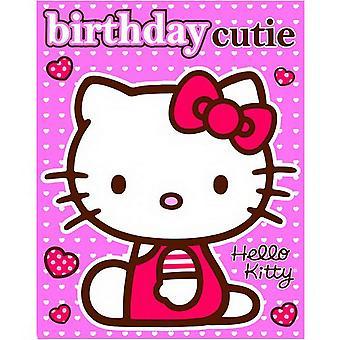 Hello Kitty - tarjeta de cumpleaños con pegatinas