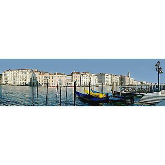 Panoramic Of Colourful Venetian Waterfront PosterPrint