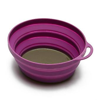 New LIFEVENTURE Silicon Ellipse Bowl Camping Cooking Eating Purple