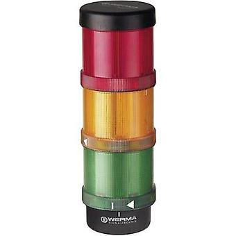 Signal tower LED Werma Signaltechnik KS72 Classic Red, yellow, green, Non-stop light signal, Flasher 24 Vac, 24 Vdc
