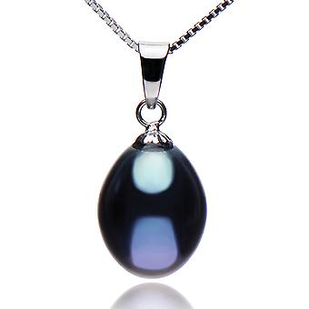 925 Sterling Silver 9-10mm Freshwater Cultured Pearl Pendant