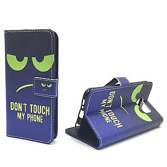Mobile phone case pouch for phone Samsung Galaxy S6 dont touch my phone Green