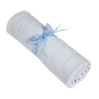 Flower Stork Baby Blanket - Blue