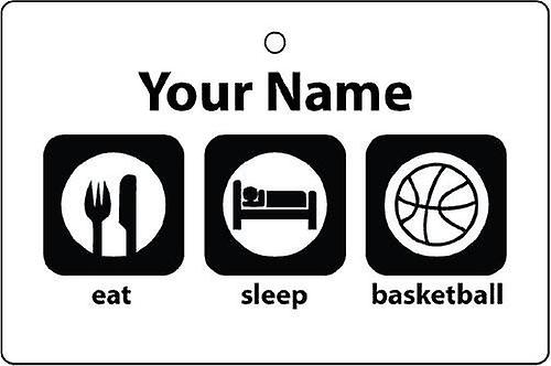 Personalised Eat Sleep Basketball Car Air Freshener