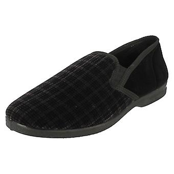 Mens Spot On Chequered Full Slipper