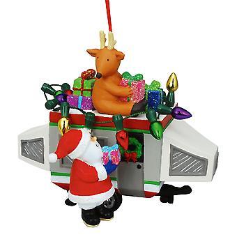 Santa lasting gaver på Popout Camper Christmas ferie Ornament