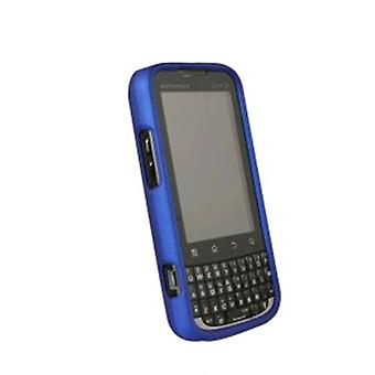 WirelessXGroup Rubberized Protective Case for Motorola MB612 XPRT - Dark Blue