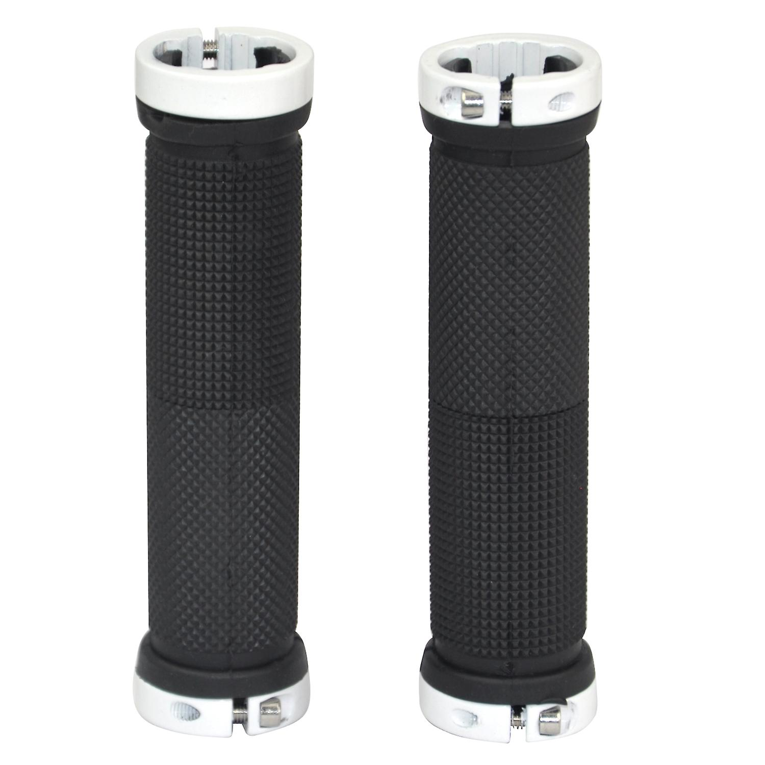 TRIXES Mountain Bike Double Lock On Bicycle Handle Bar Grips