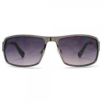 SUUNA Buffalo Rectangle Flatsheet Sunglasses In Gunmetal Carbon Fibre