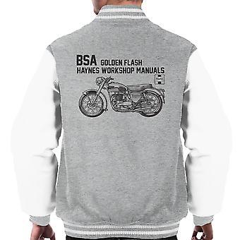 Haynes Owners Workshop Manual BSA A10 650 Golden Flash Men's Varsity Jacket