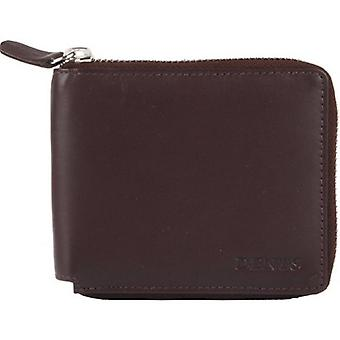 Dents Smooth Leather Zip Around Wallet - Chocolate