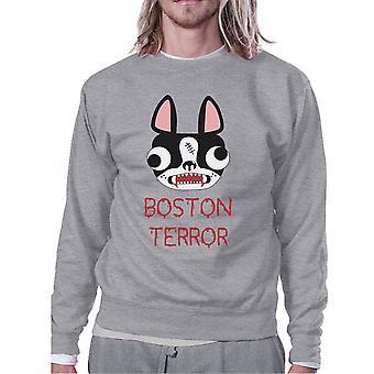 Boston Terror Terrier Grey Sweatshirt Halloween Outfits For Adults