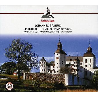 J. Brahms - Brahms: Ein Deutsches Requiem; Symfoni No. 4 [CD] USA importerer