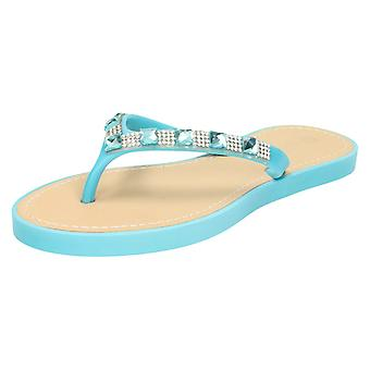 Womens Savannah Sequin Toe Post Flip Flop Sandal